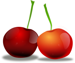 Cherries Black And White PNG Clip art