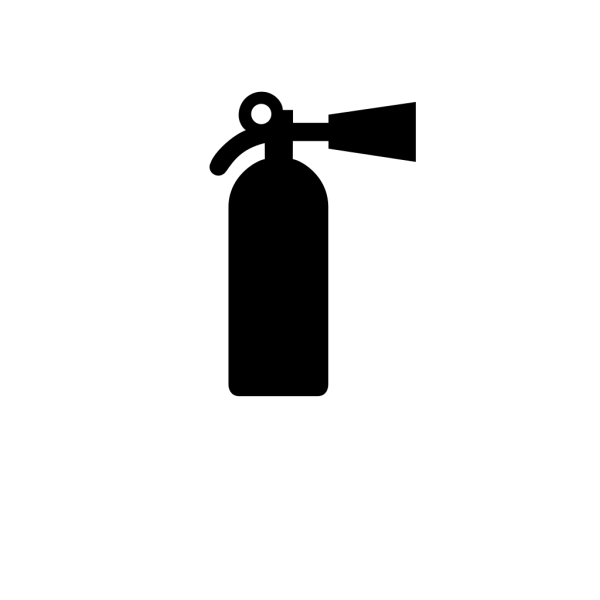 Fire Distinguisher Black PNG Clip art