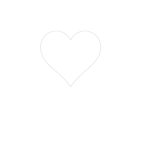 Black And White Heart PNG icons