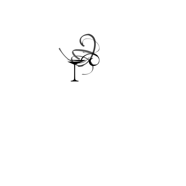 Martini Black Grey Swirl PNG Clip art