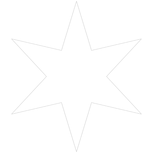 White Star PNG Clip art