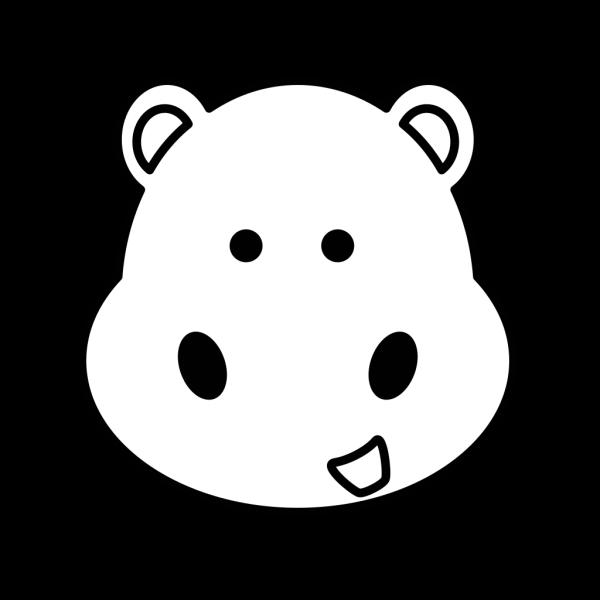 Hippo Head PNG Clip art