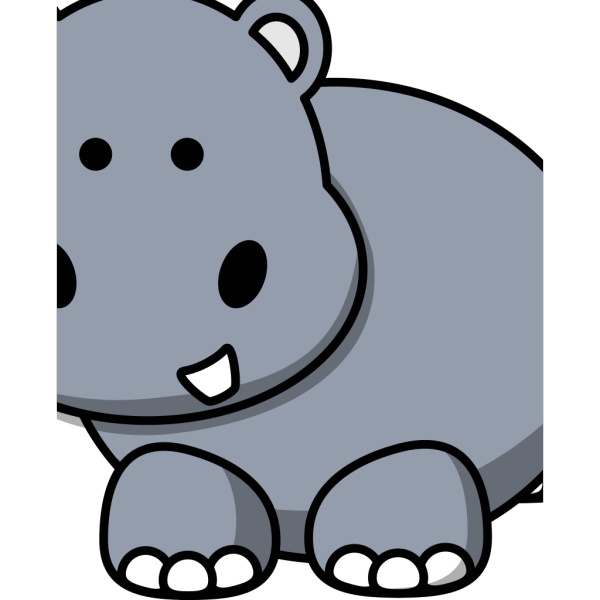 Side Hippo PNG Clip art