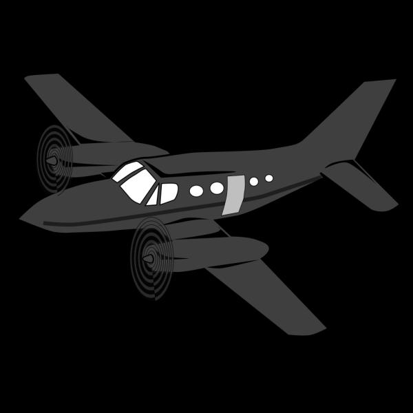 Dark Plane PNG Clip art