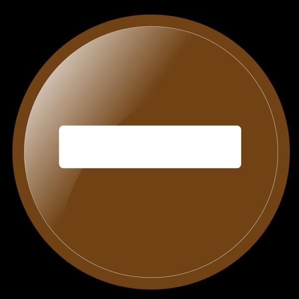 Minus Button Sepia PNG Clip art
