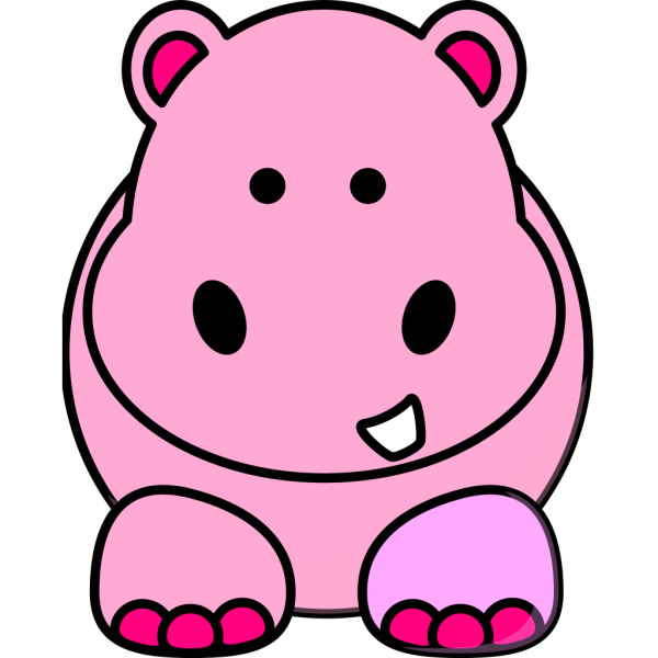 Pink Hippo PNG Clip art