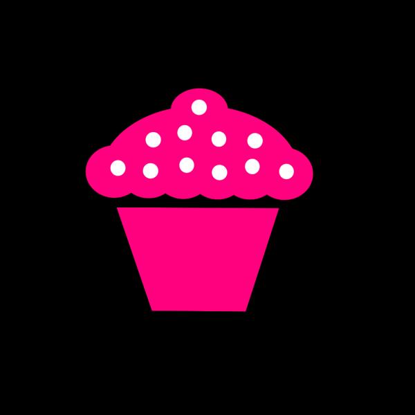 Polka Dot Cupcake Black PNG Clip art
