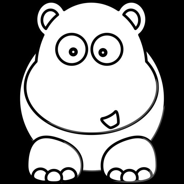 White Hippo PNG Clip art
