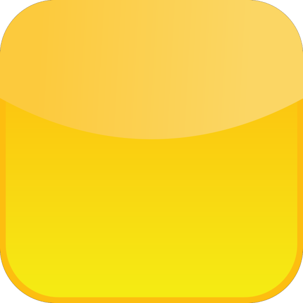 Glossy Yellow Icon Button PNG Clip art