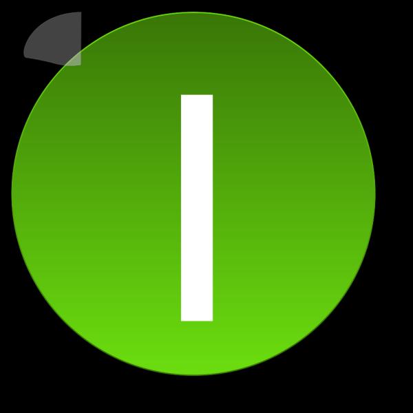 Green I PNG Clip art