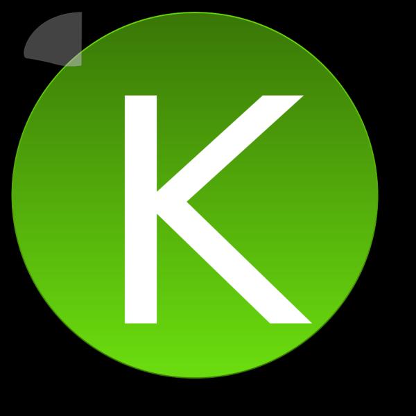Green K PNG Clip art