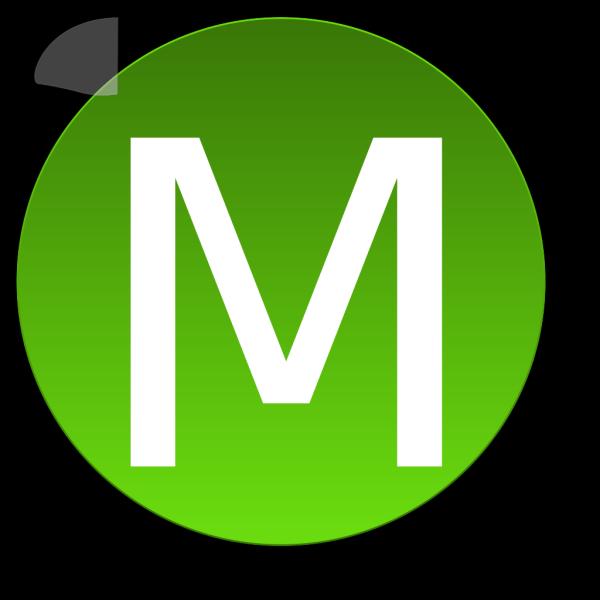 Green M PNG Clip art