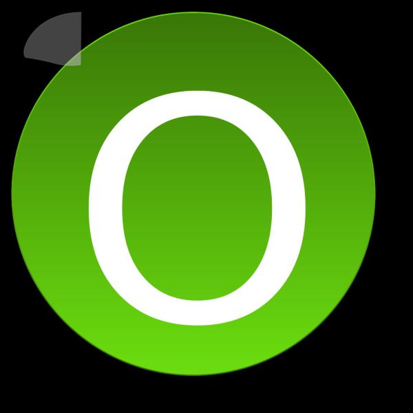 Green O PNG Clip art