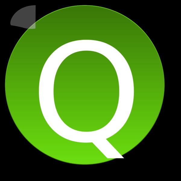 Green Q PNG Clip art
