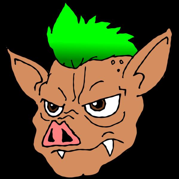 Punk Pig PNG Clip art