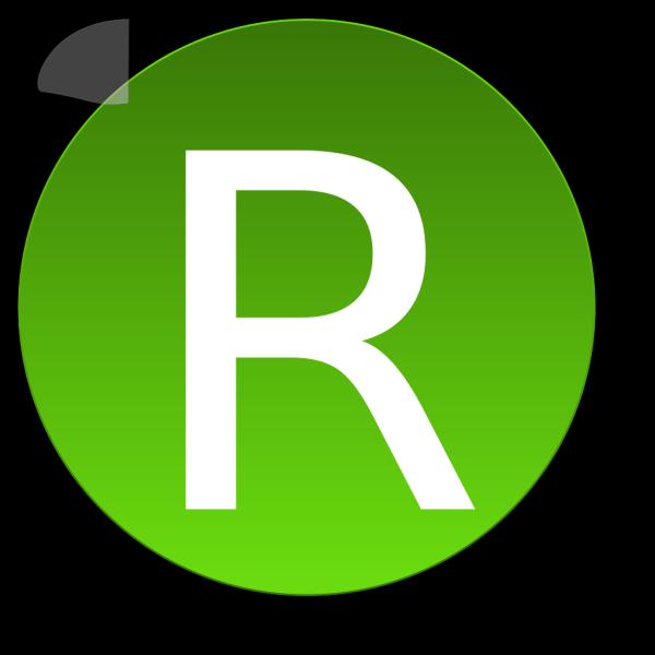 Green R PNG Clip art