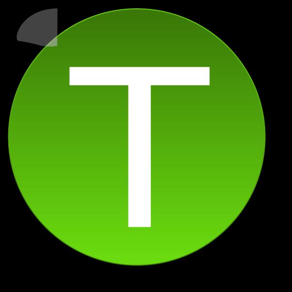 Green T PNG Clip art
