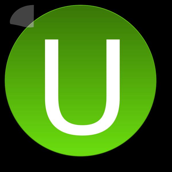 Green U PNG Clip art