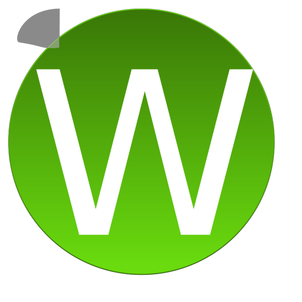Green W PNG Clip art