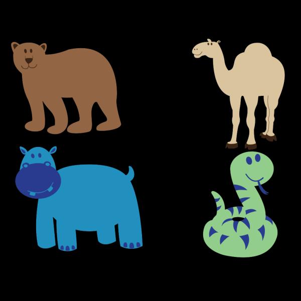Bear Camel Hippo Snake PNG Clip art