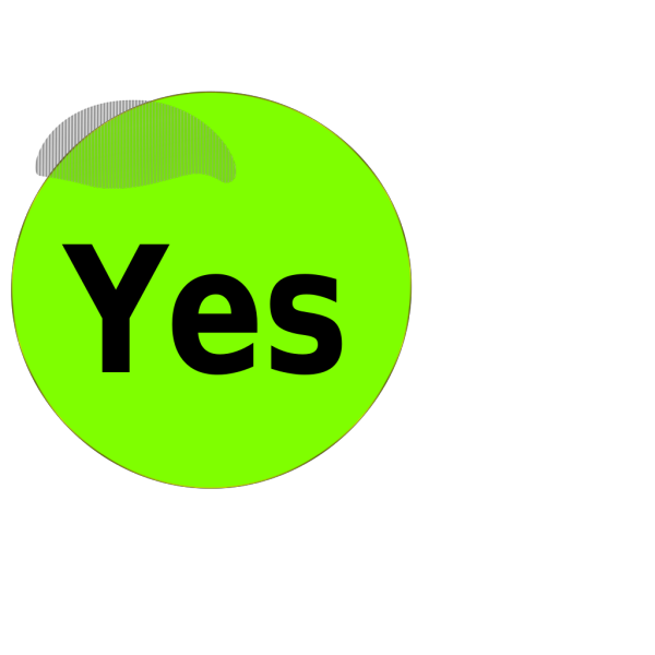 Yes Button PNG Clip art