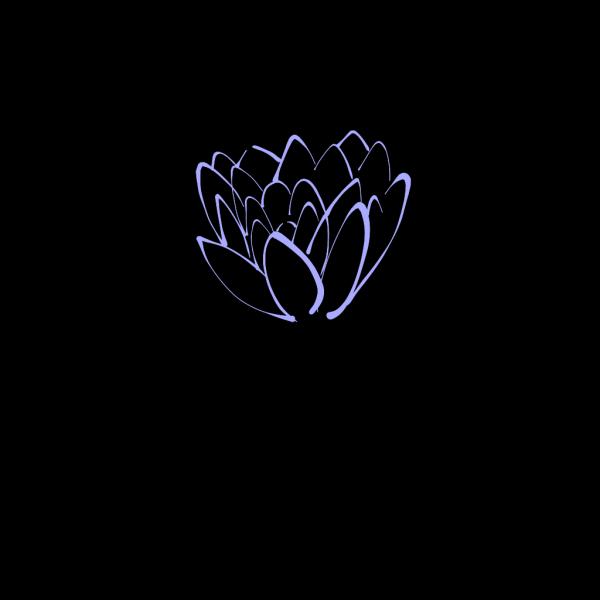 Light Blue Lotus PNG Clip art