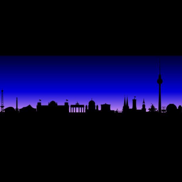 Berlin Skyline PNG Clip art
