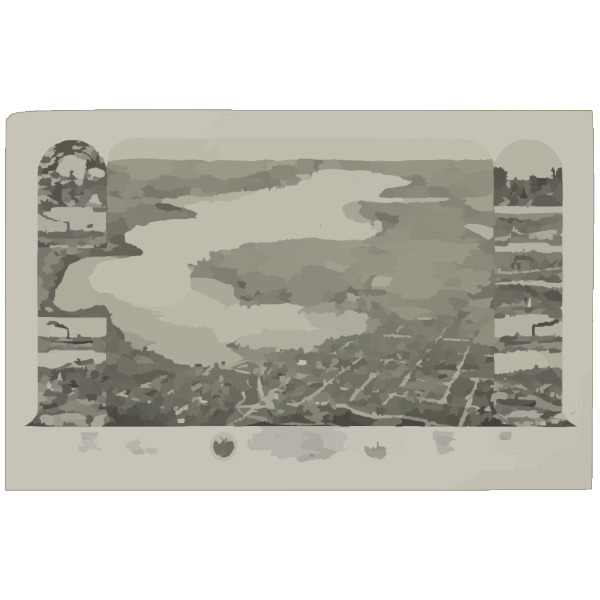 Bird S Eye View Of Lake Geneva, Walworth Co., Wis. 1882 PNG Clip art