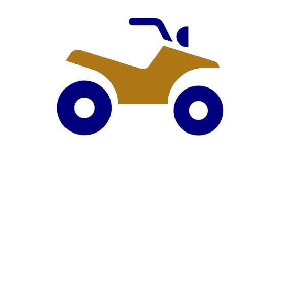Atv Blue And Gold PNG Clip art