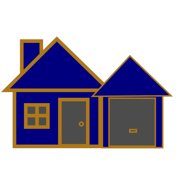 House Blue And Gold PNG Clip art