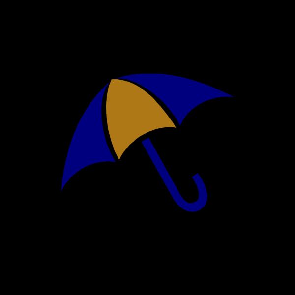 Umbrella Blue And Gold PNG Clip art