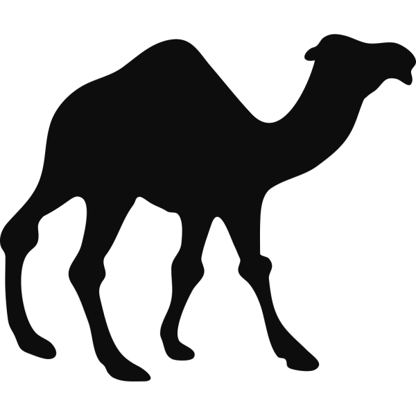 Camel Lineart PNG Clip art