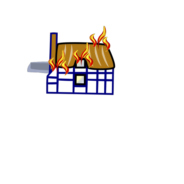 Fire In House PNG Clip art
