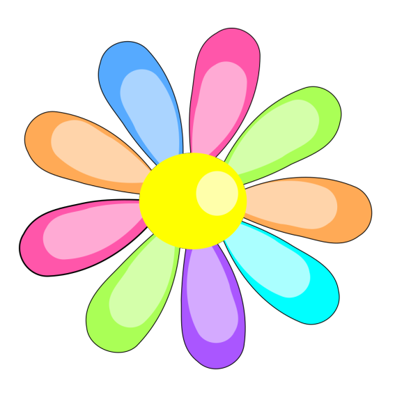 Three Flowers Bw PNG Clip art