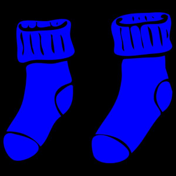 Blue Socks PNG Clip art