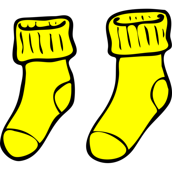 Blue And Yellow Socks PNG Clip art
