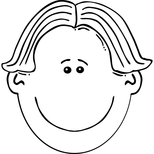Boy Face Black & White PNG Clip art