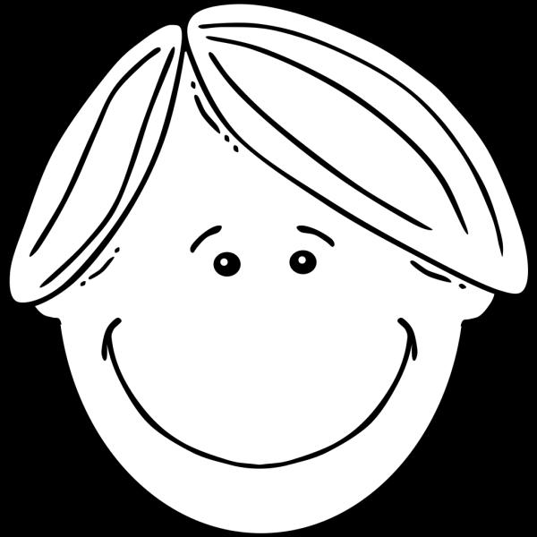 Boy Black & White PNG Clip art