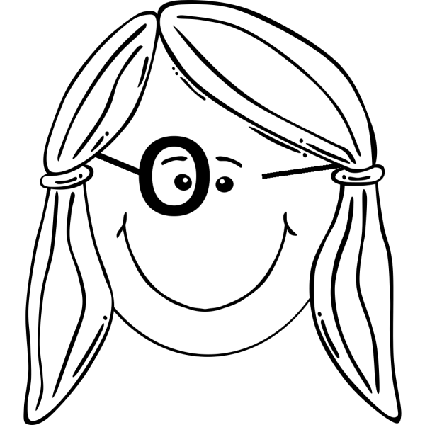 Girl Face With Glasses PNG Clip art