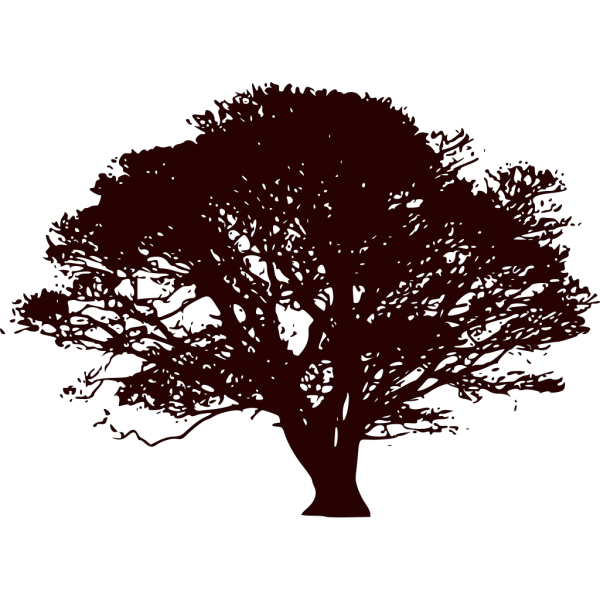 Snowflake Tree Black And Red PNG Clip art