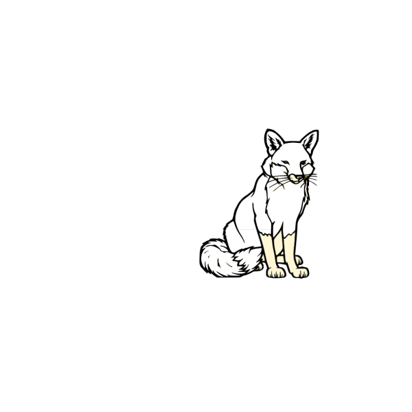 Black And White Fox PNG icons