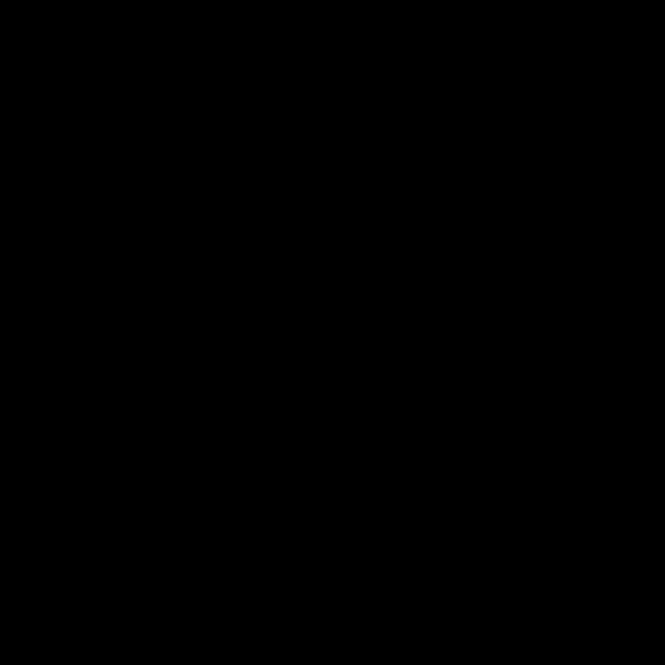 Four Leaf Clover Black PNG Clip art