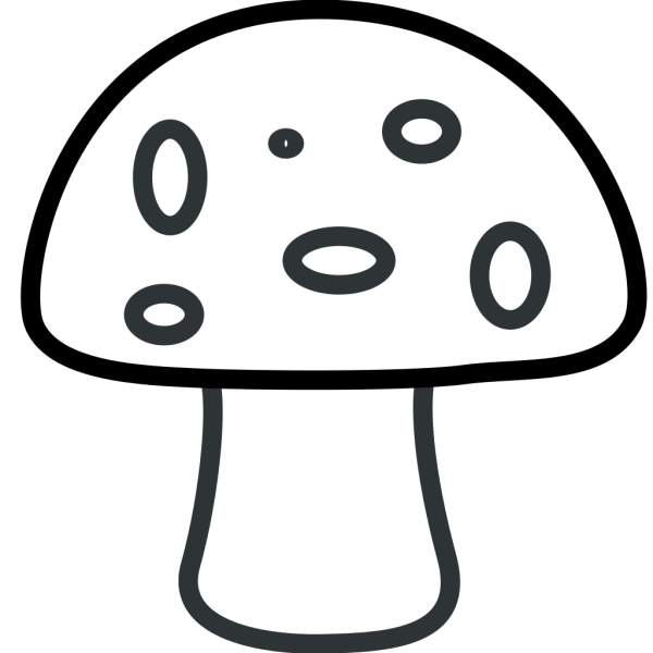 Black And White Mushroom PNG images