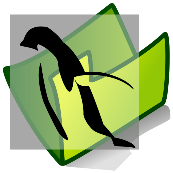 Penguin Folder PNG Clip art