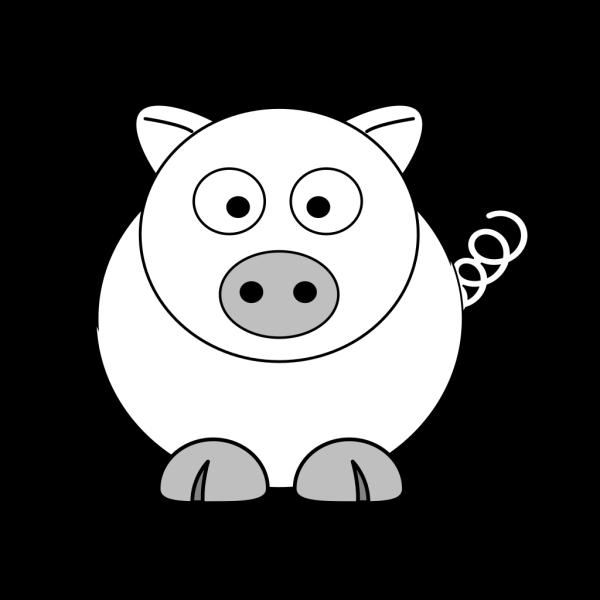 B&w Pig PNG Clip art