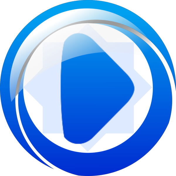 Play Button Blue PNG Clip art