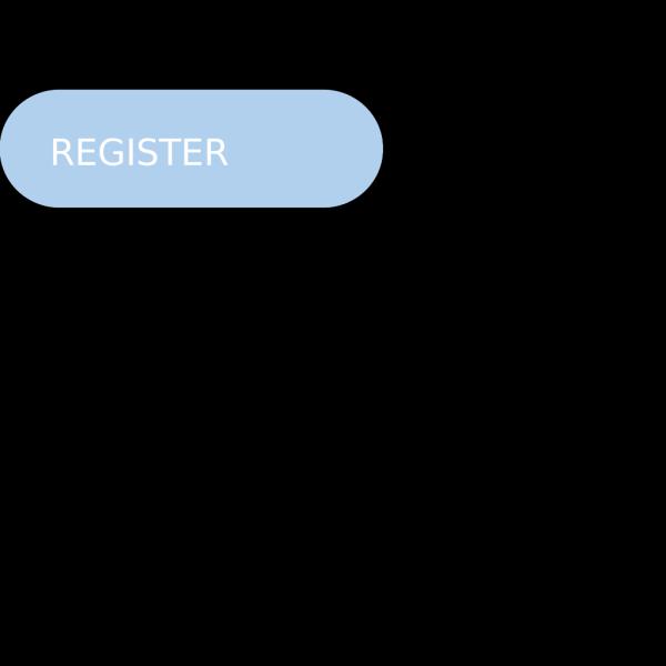 Register Now Button Pill Light Blue PNG Clip art