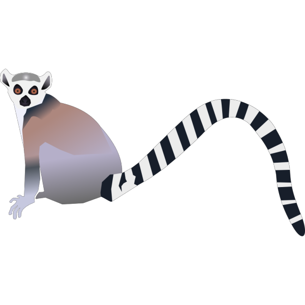Long Tailed Animal PNG Clip art