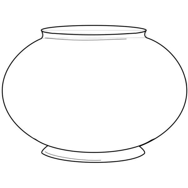 Simple Fishbowl Outline PNG images