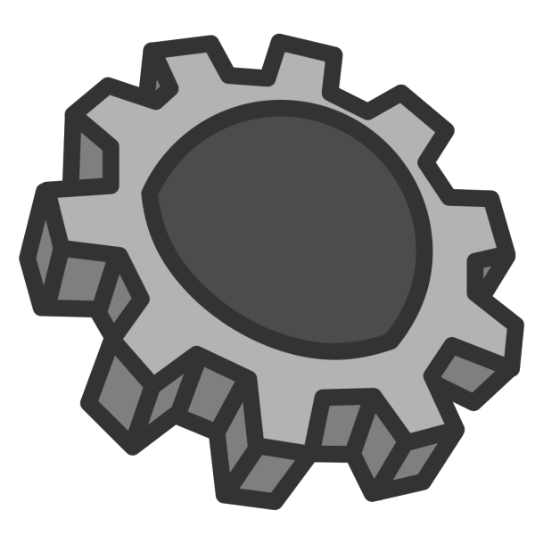 Cogs Collection Black PNG Clip art